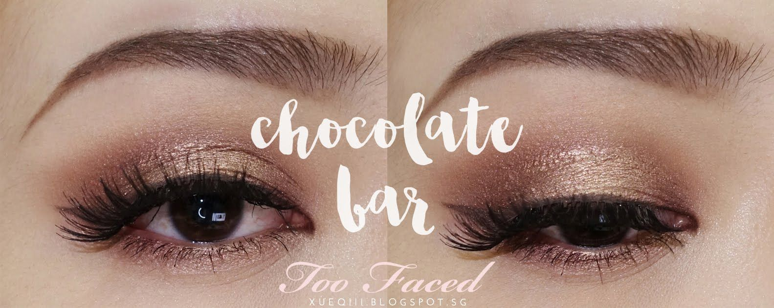 Warm Brown and Golden Makeup Look ft. Too Faced   Chocolate Bar Palette