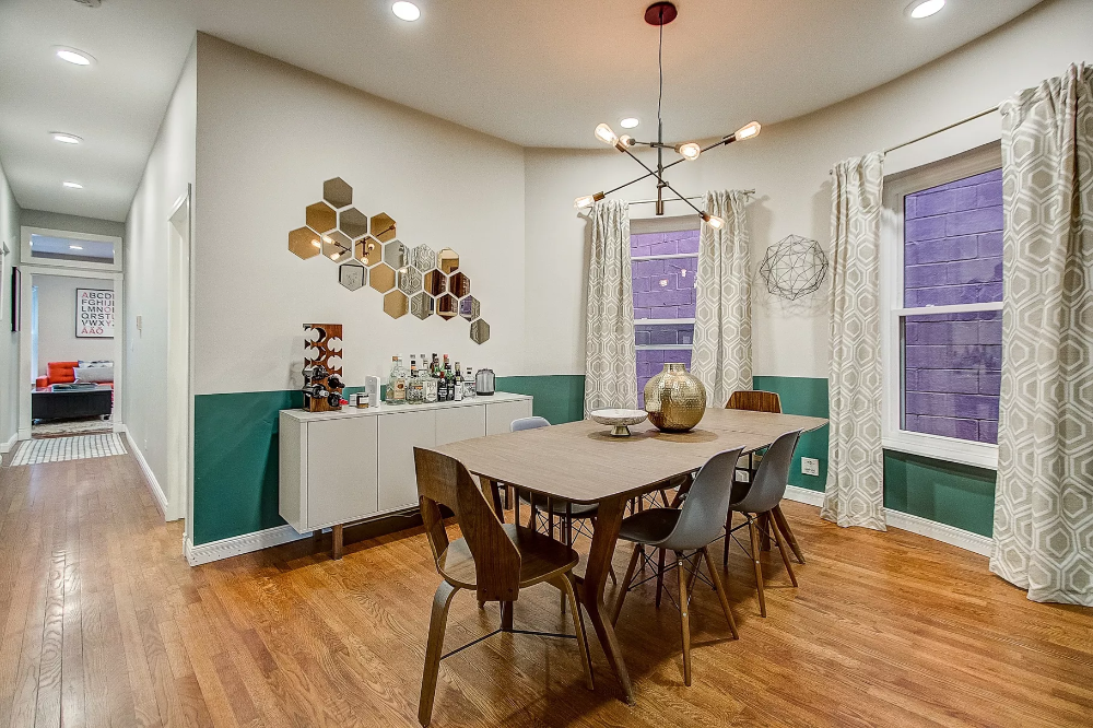 Spacious, touched up condo with pops of color in Uptown