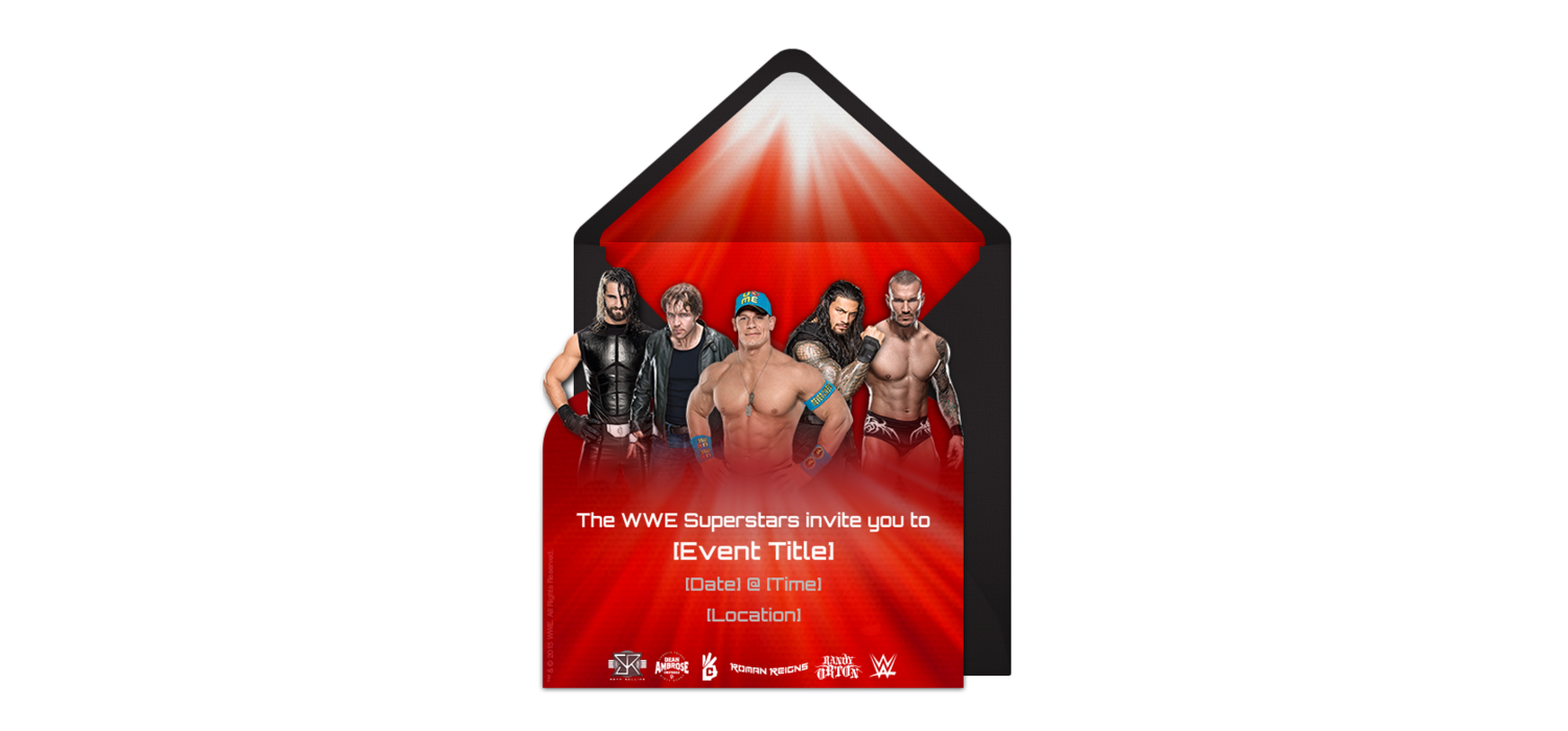 Free WWE Group Invitations | Invitaciones | Pinterest | Wwe birthday ...