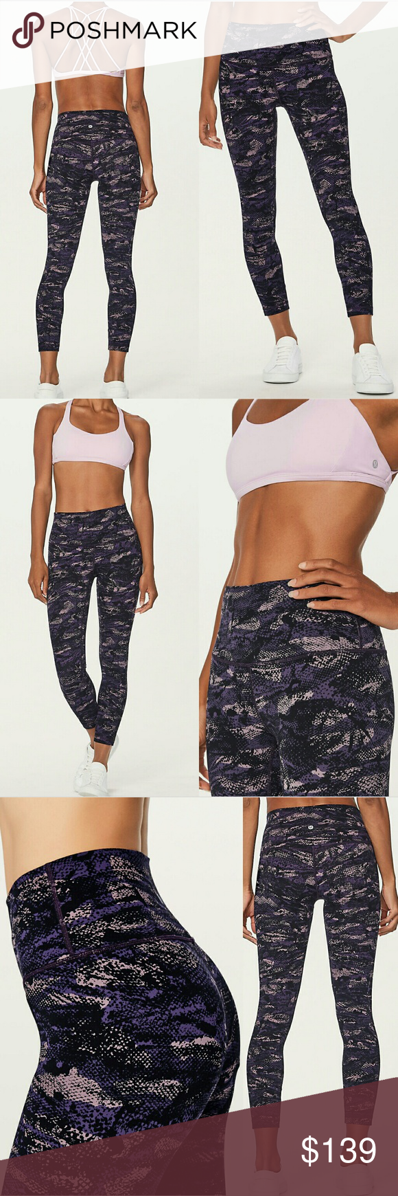 b8e3ee94a86f8 New lululemon align II pant legging purple camo 10 Brand new with tag. Sold  out Align 2 pant leggings in rip wave purple thunder camo pink black  camouflage ...