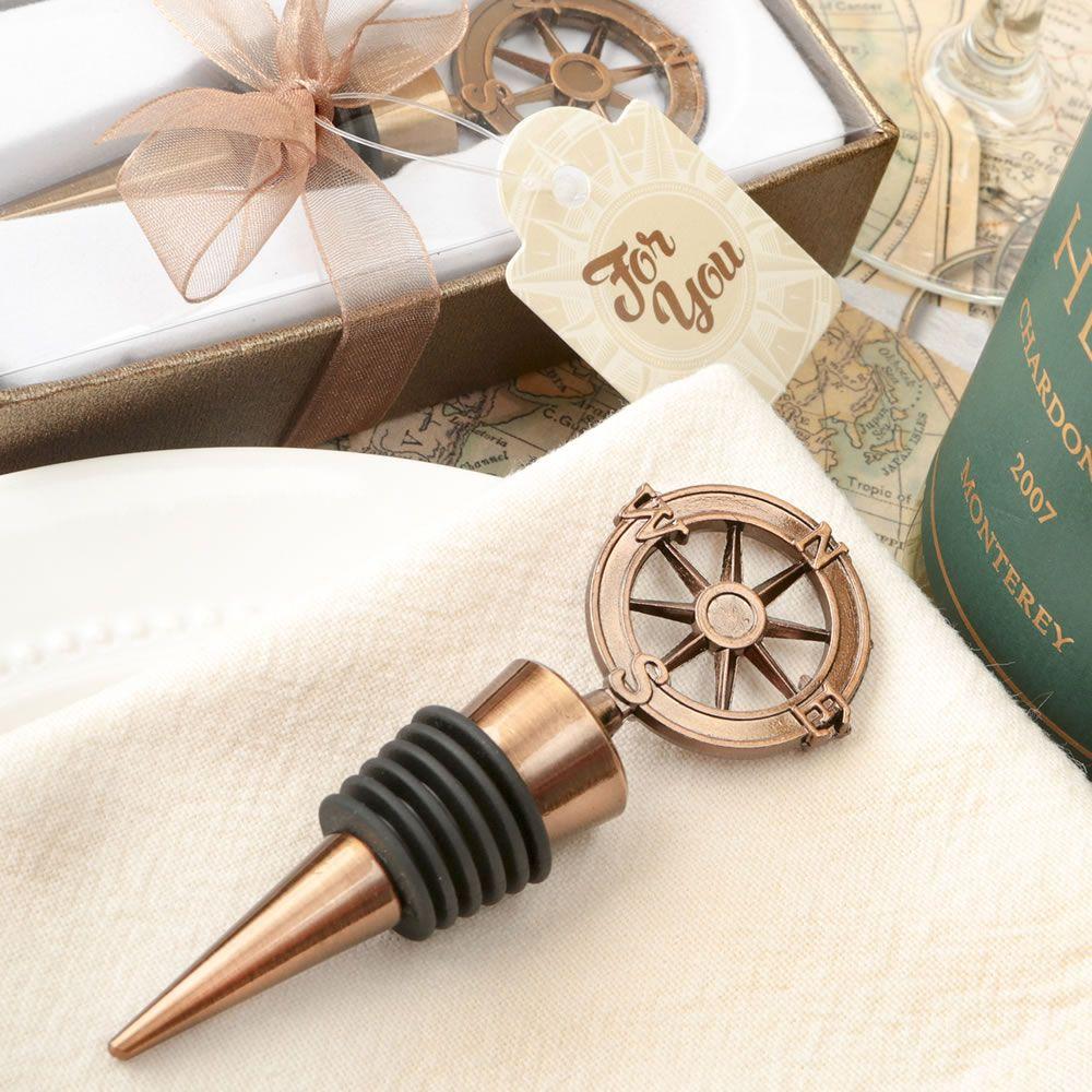 Compass Design Bronze Metal Bottle Stopper | Compass design, Compass ...