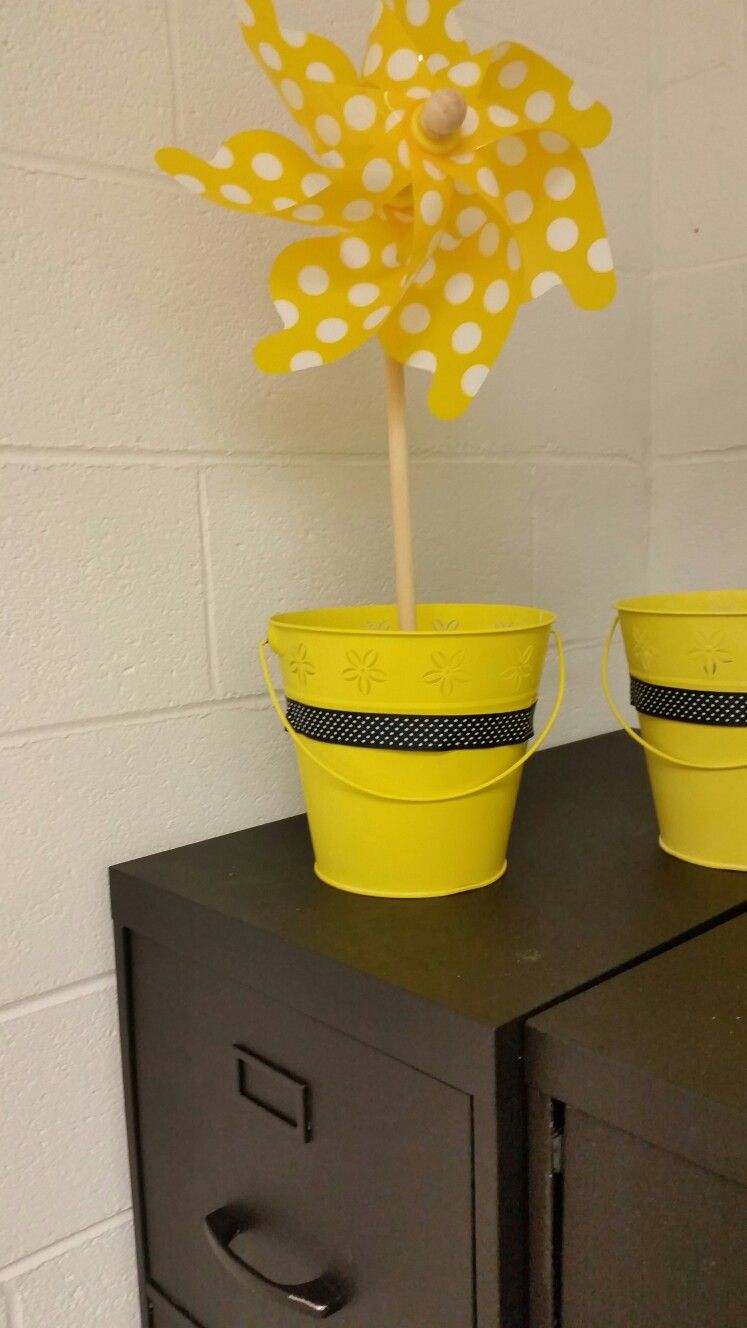 Fun pinwheels in a bucket!