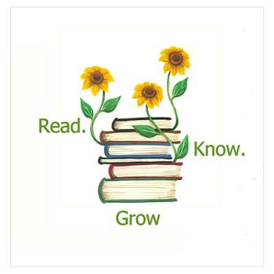 Read.Know.Grow. What a great conversation starter and a good thought for the day. Art by Marianne Wallace.