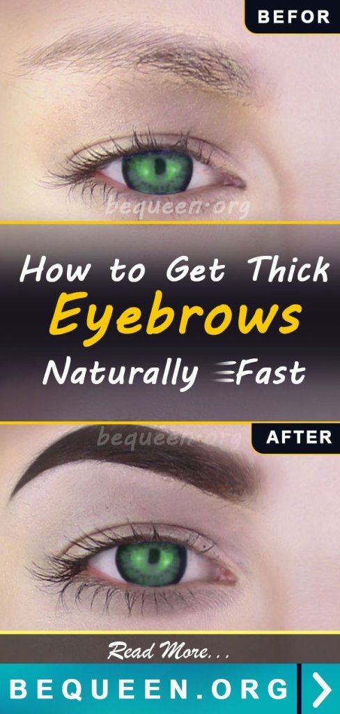 How to Get Thick Eyebrows Naturally Fast - Be Queen   How ...