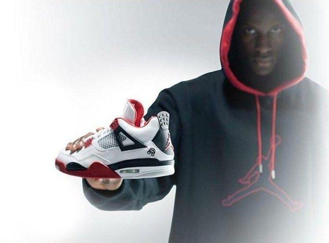 218277673f3a0c ... Air Jordan 4 generation of basketball shoes Air Jordan 4 Boots Joe four  male and female ...