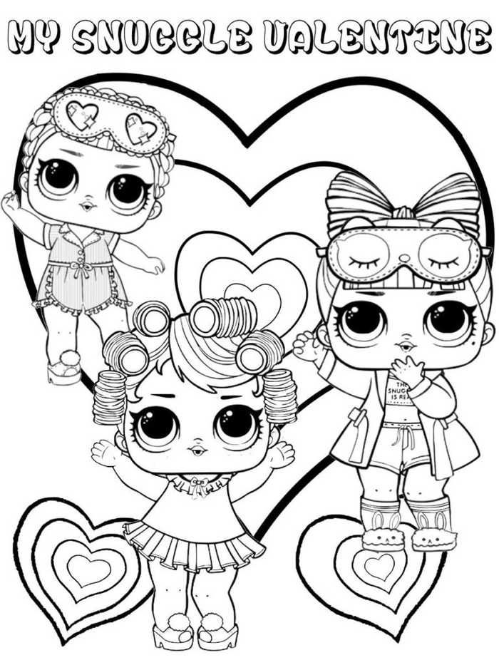 Printable Lol Doll Coloring Pages Valentine Coloring Pages