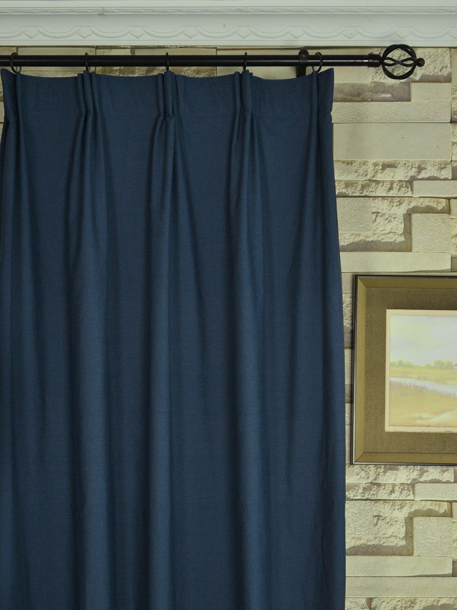 Extra Wide Hudson Solid Versatile Pleat Curtains 100 120 Inch
