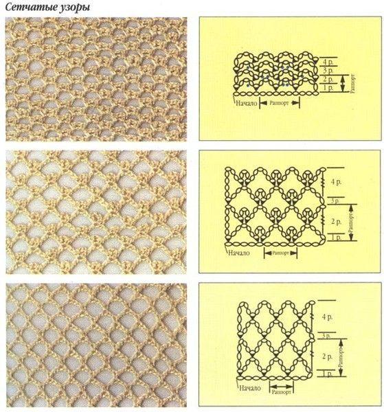 Irish Crochet Net Graph And Video Irish Lace Pinterest