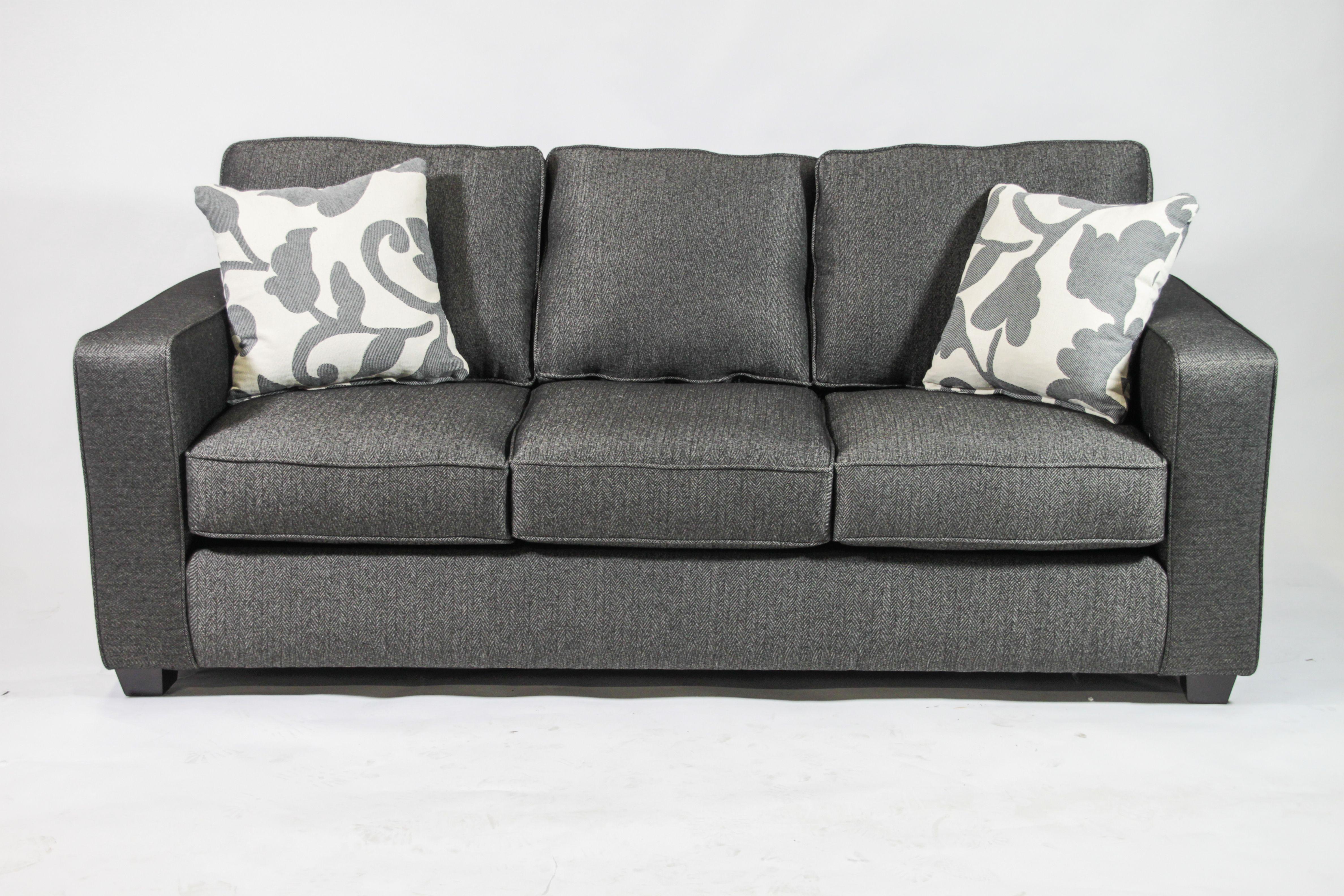 Black Herringbone Sofa