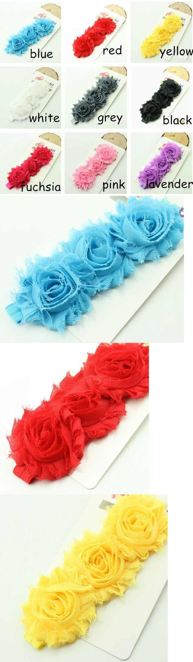 Hair accessories for babies ebay - Hair Accessories 18786 Lot Of Baby Headbands Shabby Chic Flower Multi Color Buy