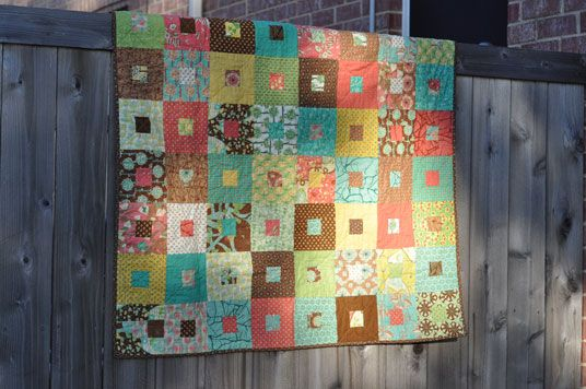 Moda Lissa: Botany quilt from a jelly roll.