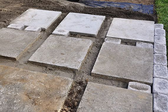 Lovely Make 24x24 Pavers (possible Driveway Idea)
