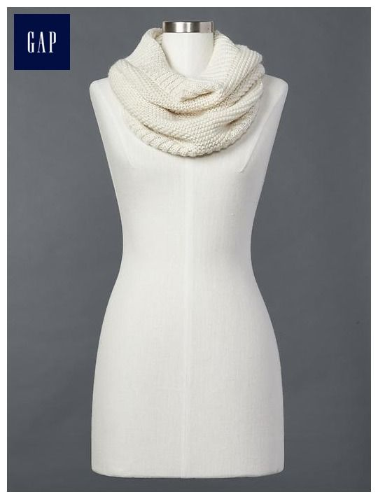 1a1ac878cfa Marled lurex infinity scarf - One Size, oatmeal heather | Stylin ...