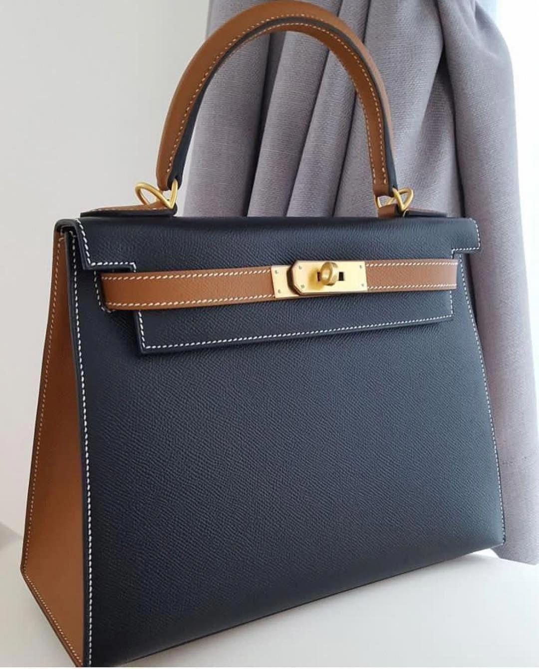 cdbd93959137 Hermes Kelly 28 Sellier HSS Black   Gold Epsom Ghw A  Hermeshandbags ...
