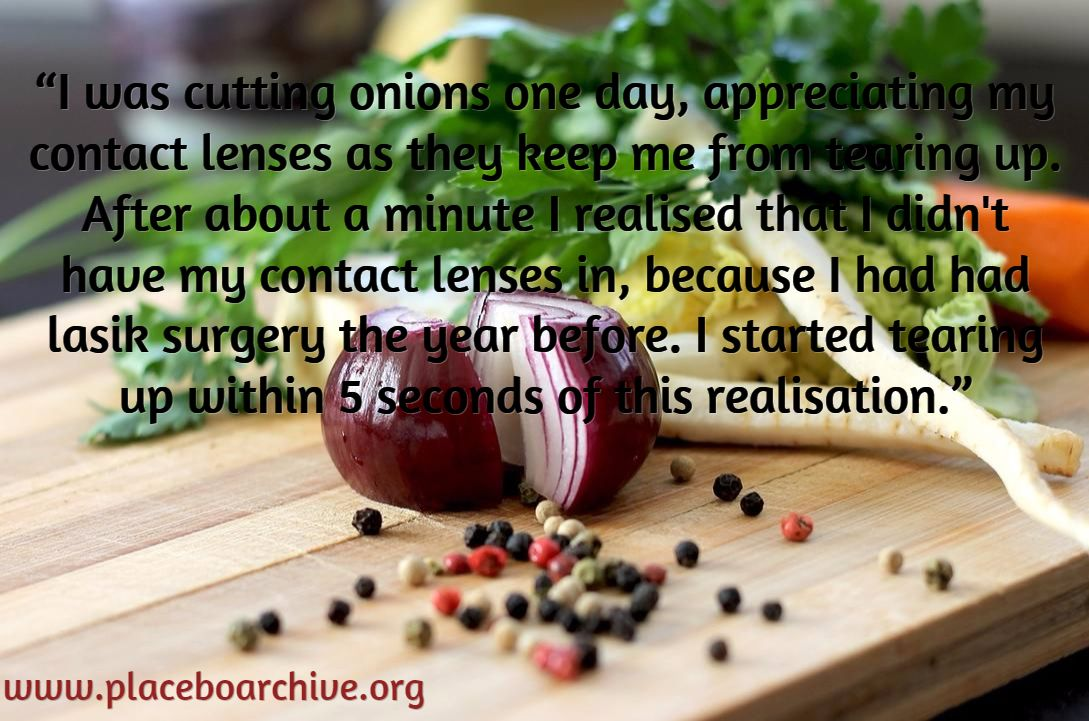 Cutting Onions Placebo Effect Realization Examples Of The Placebo