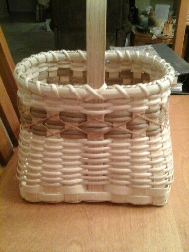 This basket I wove, is for wine corks.