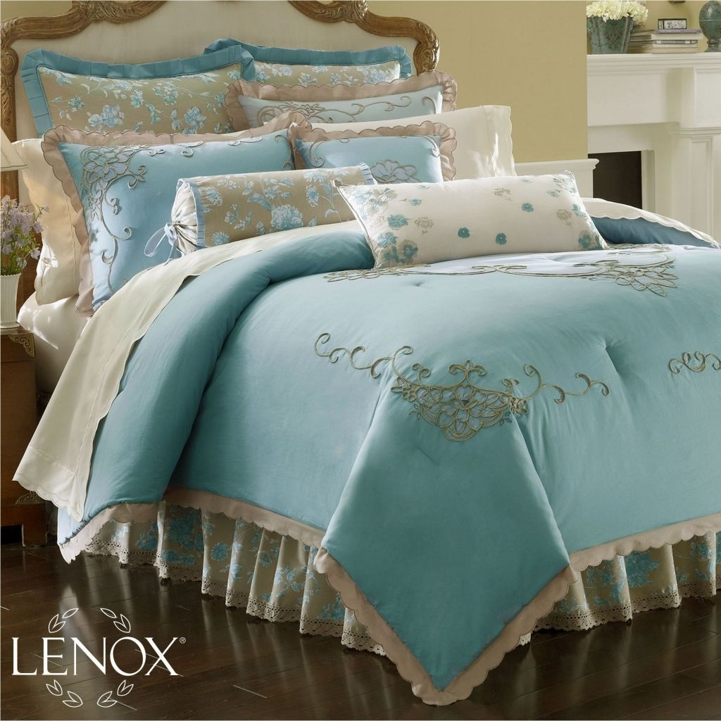 Lenox Rutledge Queen Comforter Set By Lenox Bedding: The Home Decorating  Company