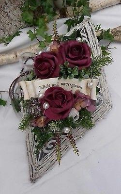 Grabgesteck Grabschmuck Allerheiligen Totensonntag Raute Ornament Rosen Schrift #gesteckeallerheiligen