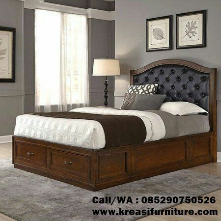 tempat tidur minimalis 2 laci | tempat tidur, perabot