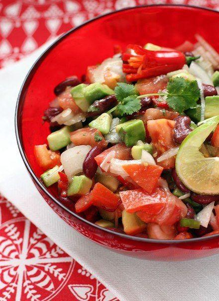 Салат с авокадо | Рецепт | Салаты, Полезные рецепты и Авокадо