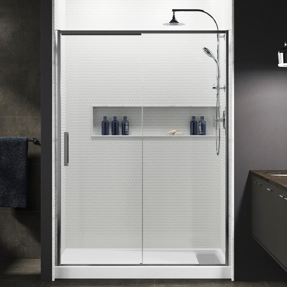 Kohler Torsion 60 In W X 76 875 In H Frameless Sliding Shower