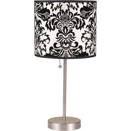 ORE International Table Lamp, Black/White