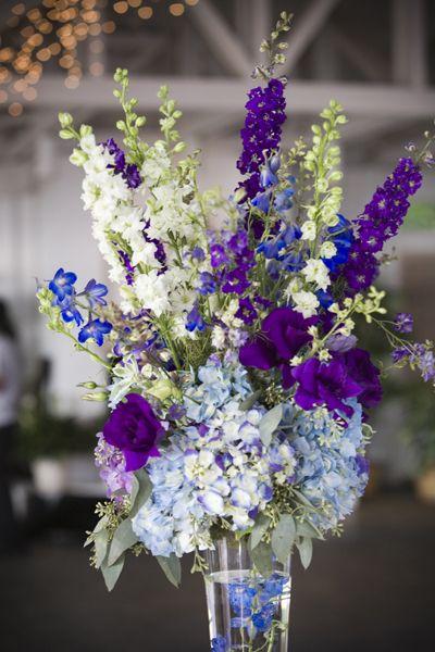 Hydrangea lisianthus delphinium wedding inspirations for Flower arrangements with delphinium
