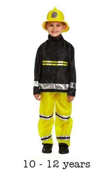 Child Fireman Fancy Dress Costume 10 12 Yrs Tfpfancy Dress