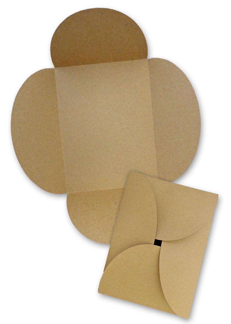 Brown Bag Paper A7 Petal Card Invitations Kraft 10 Pack Cardstock