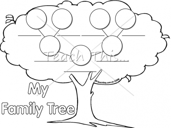 Family Tree Printable Graphic Organisers For Classroom Teaching