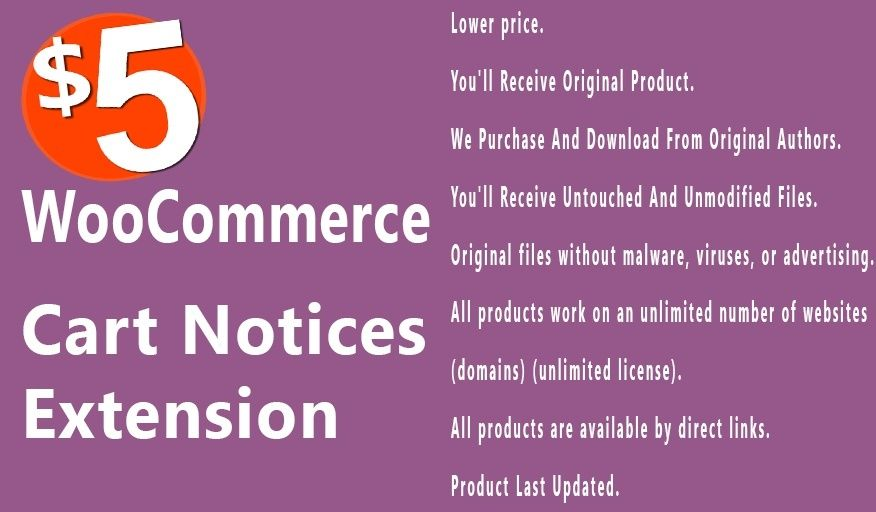 Cart Notices 1.8.2 Extension