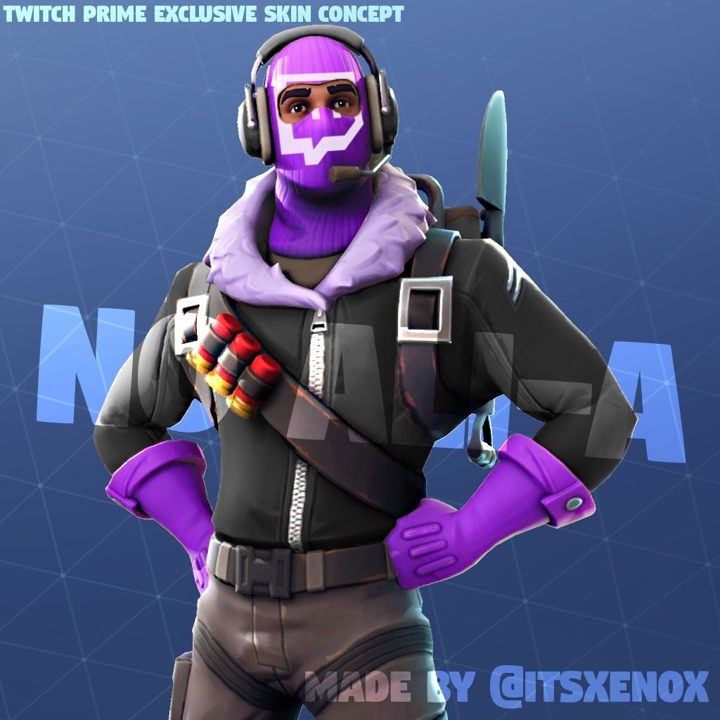Twitch Prime Skin Fortnite 2019 Twitch Prime Exclusive Skin Concept Fortnitebr Di 2020