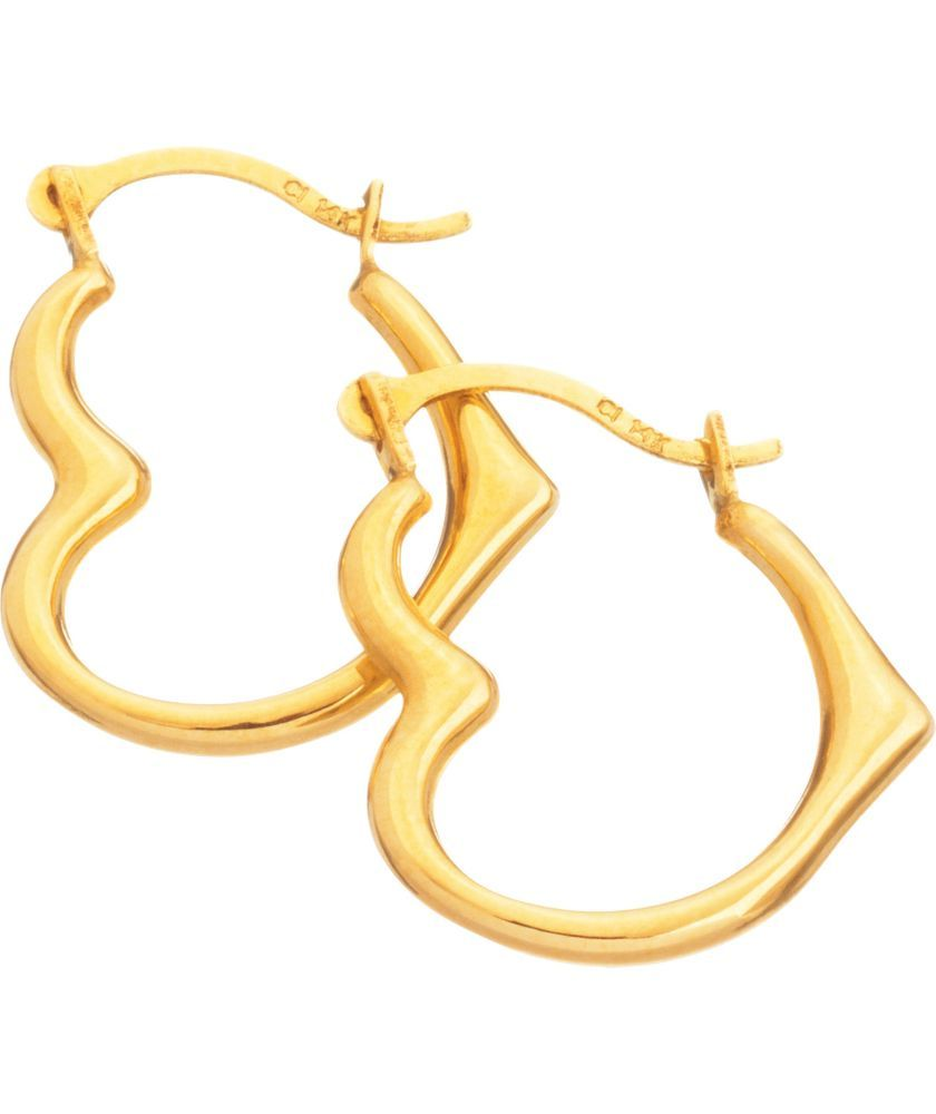 Buy 9ct Gold Heart Creole Earrings at Argos.co.uk - Your ...