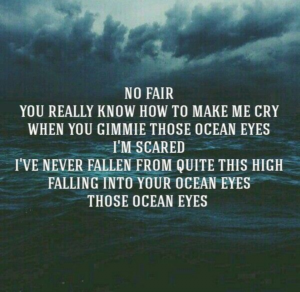 Ocean Eyes  Billie Eilish  Inspiration  Pinterest  Ocean, Eye and Lyric quotes