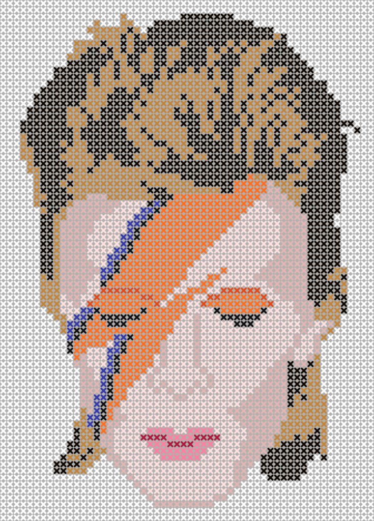 David Bowie Tribute | Plastic canvas | Pinterest | Bordado, Punto de ...