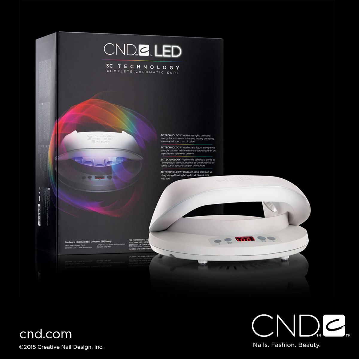 The new cnd led lamp is designed to completely and evenly cure cnd
