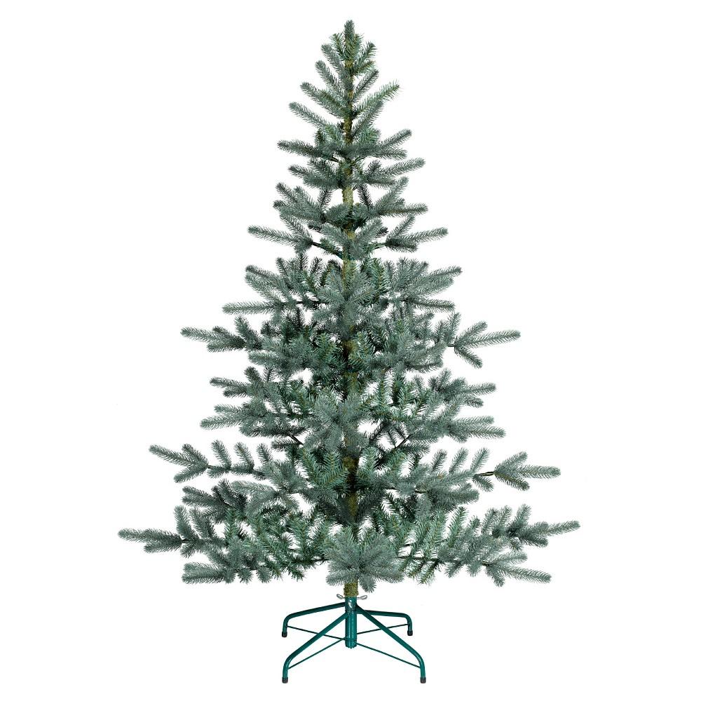 5.5ft Unlit Artificial Christmas Tree Blue/Green Balsam