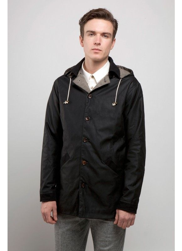 Percival Clothing | Wax Mac - Black - Outerwear