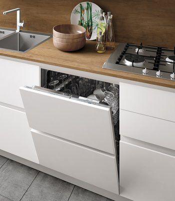 Dettaglio cucina moderna stosa modello cucina infinity for Case bianche moderne