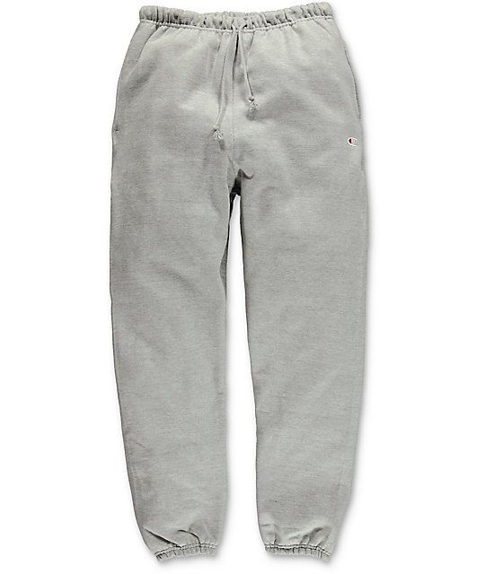 00cf7bd7eff Champion Reverse Weave Banded Bottom Oxford Grey Sweatpants in 2019 ...