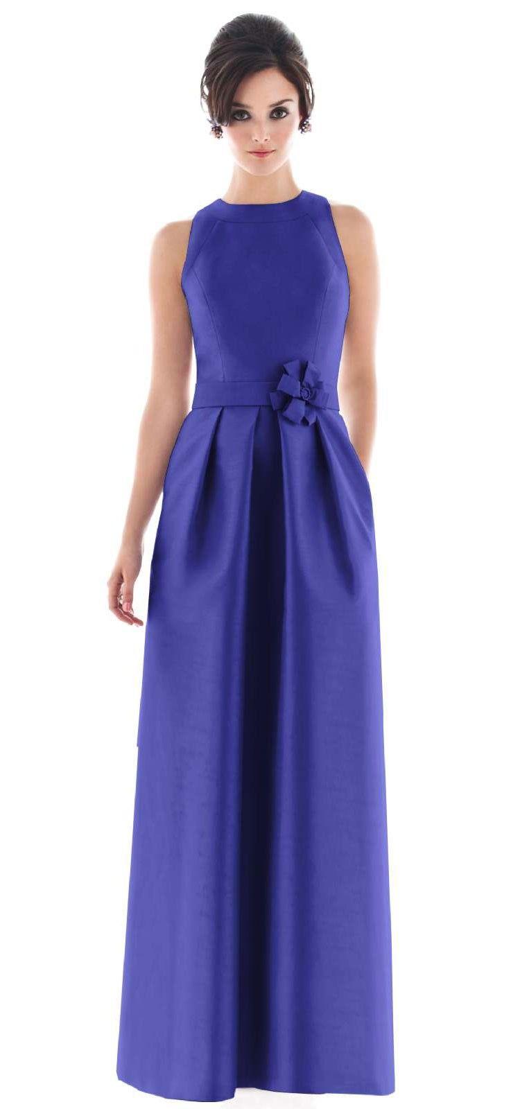 Contemporáneo Vestido Azul Real Para Invitados De La Boda ...