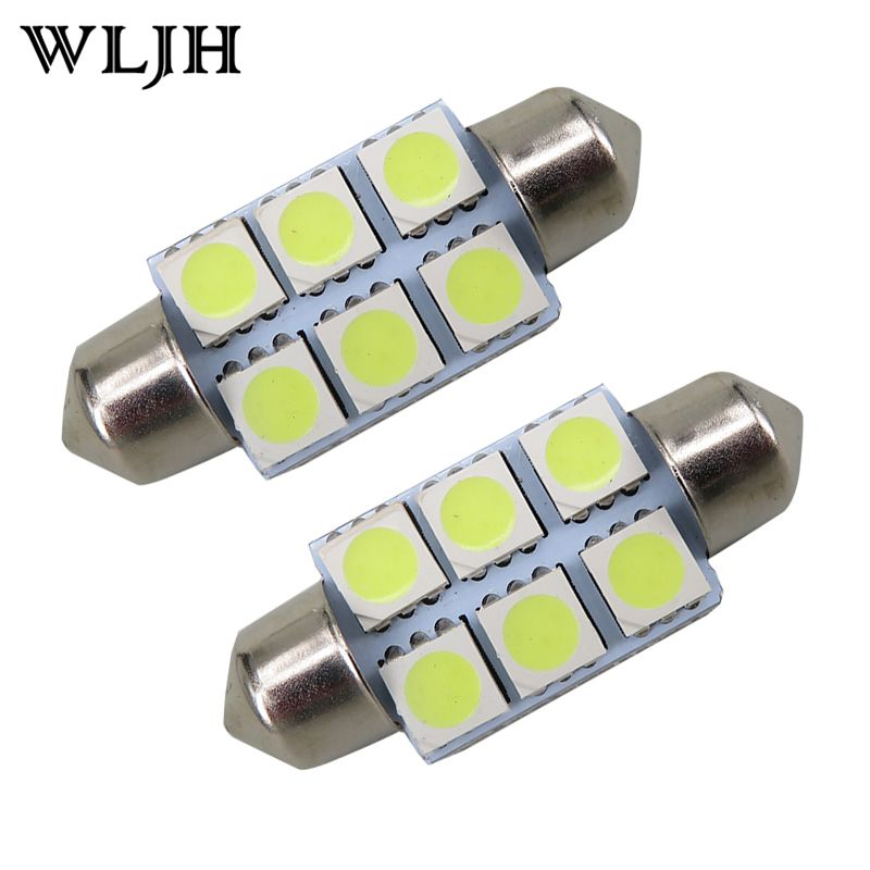 10 Sztuk Super White 36mm C5w Festoon 5050 Smd 6 Led