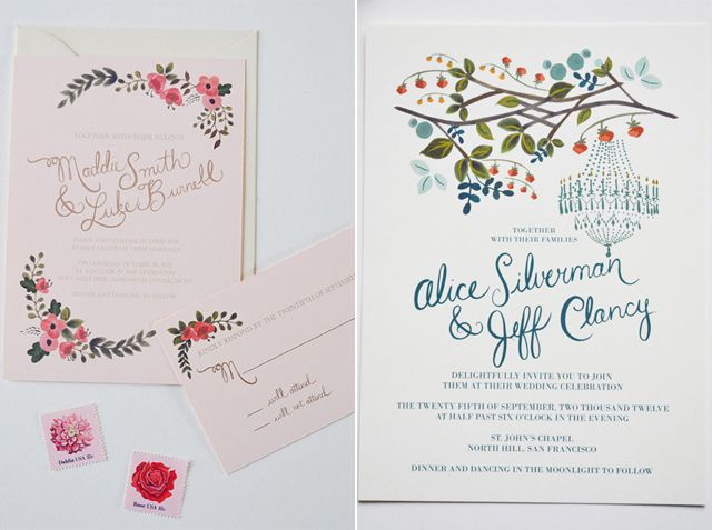 floral wedding invitations etsy. floral. the wedding invitations, Wedding invitations