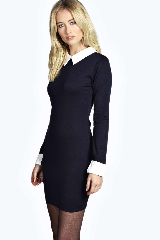 Women S Ania Long Sleeve Collar Bodycon Dress Boohoo Uk Long Sleeve Maxi Dress Bodycon Fashion Bodycon Maxi Dresses [ 1500 x 1000 Pixel ]