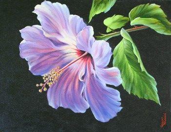 Purple Hibiscus Watercolor Flowers Tutorial Floral Art