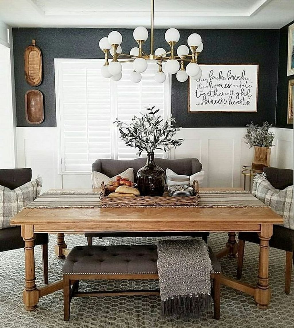 Awesome 30+ Rustic Farmhouse Dining Room Design Ideas in ...
