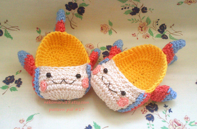 Ganchillo bebé zapatillas/botines pescado Kawaii por Nekomaru85, €3 ...