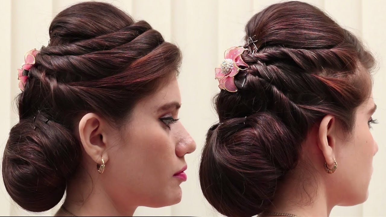 2 Best Hairstyles For Party Wedding Function Wedding Guest Hairstyle Hair Styles Wedding Hairstyles For Girls Simple Wedding Hairstyles