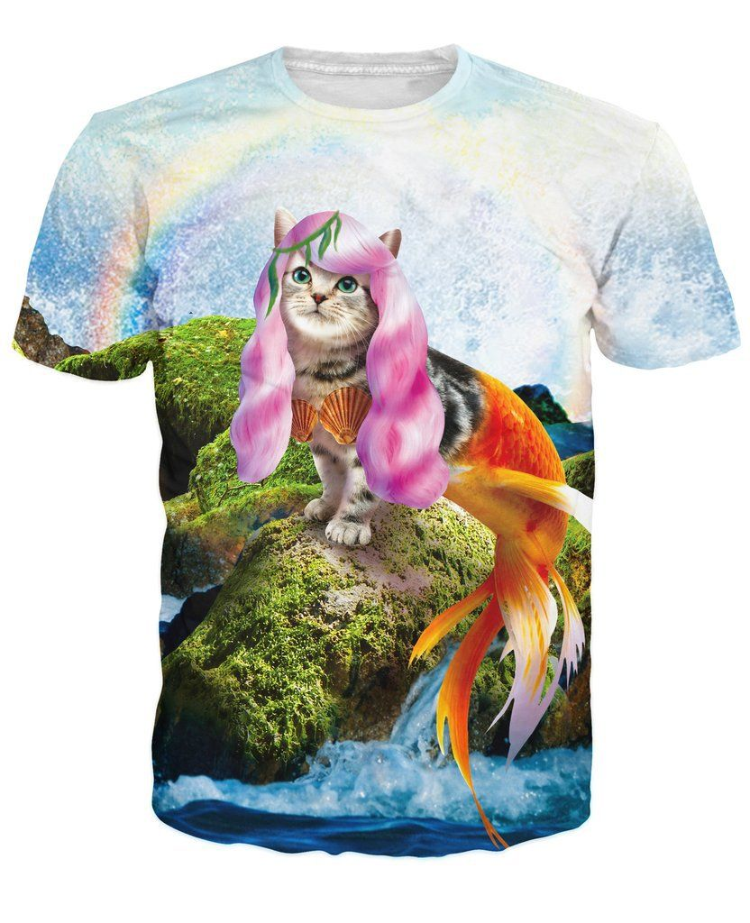 9cad32a6 Purrmaid Majestic Cat T-Shirt | Cats | Summer fashion outfits ...