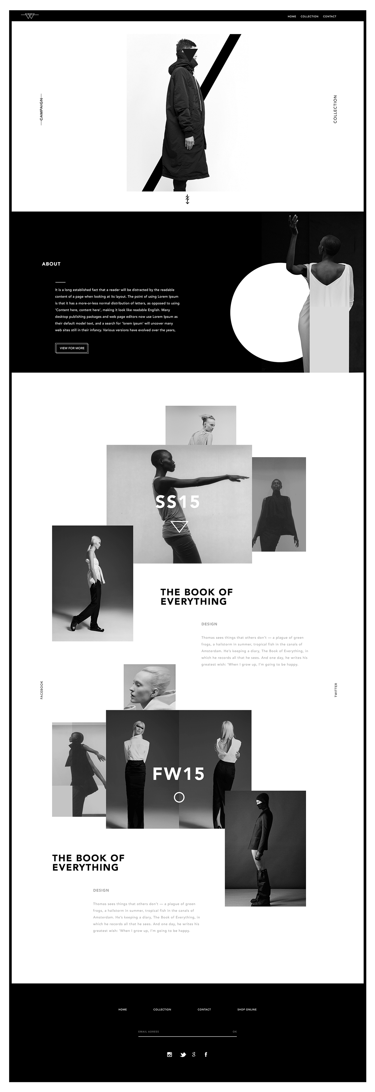 love the black and white, and how framing is used Aquawa on Behance ...